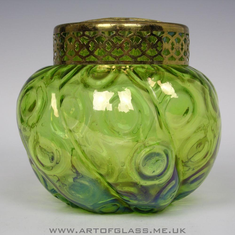 Bohemian antique art nouveau green iridescent glass rose bowlposy bohemian antique art nouveau green iridescent glass rose bowlposy vase reviewsmspy