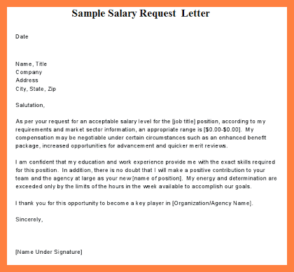 Request Letter For Certificate Employment Sample Salary Free Word