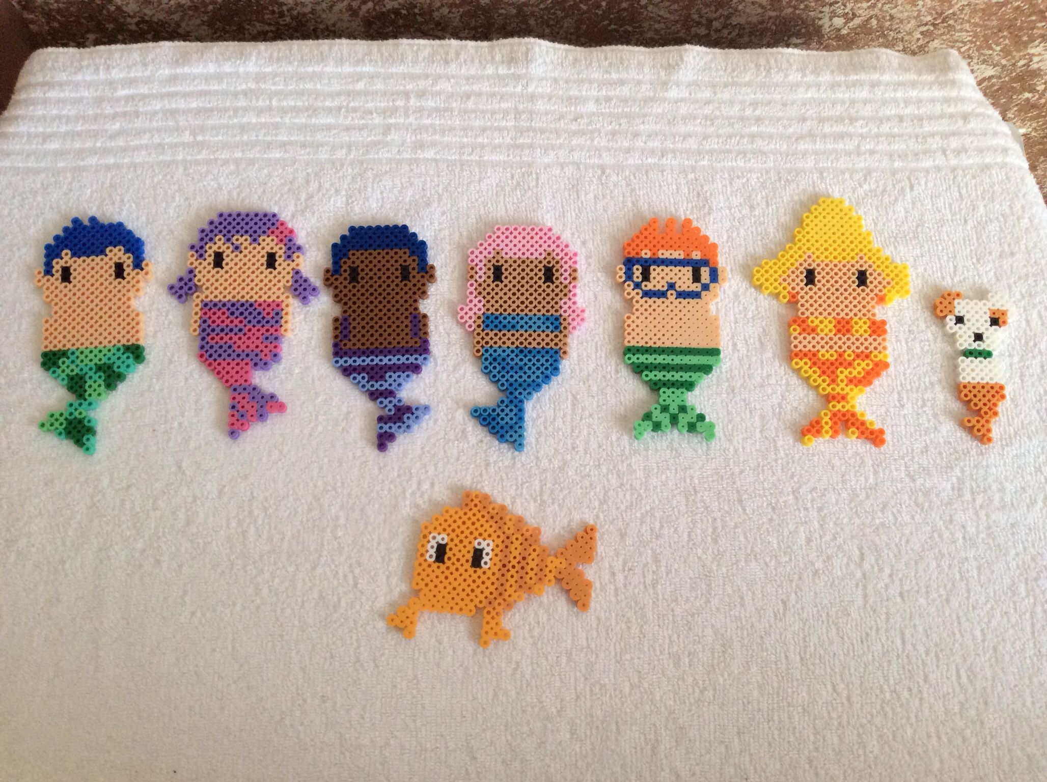Plastic beads for crafts - Bubble Guppies Perler Beads By Cheryl Vankell