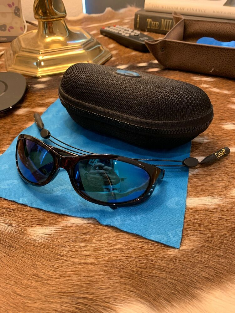 2fbd2c87d693a New Costa FathomTortoise Blue Mirror Lens Polarized Glass (580)P with  Croakies  fashion