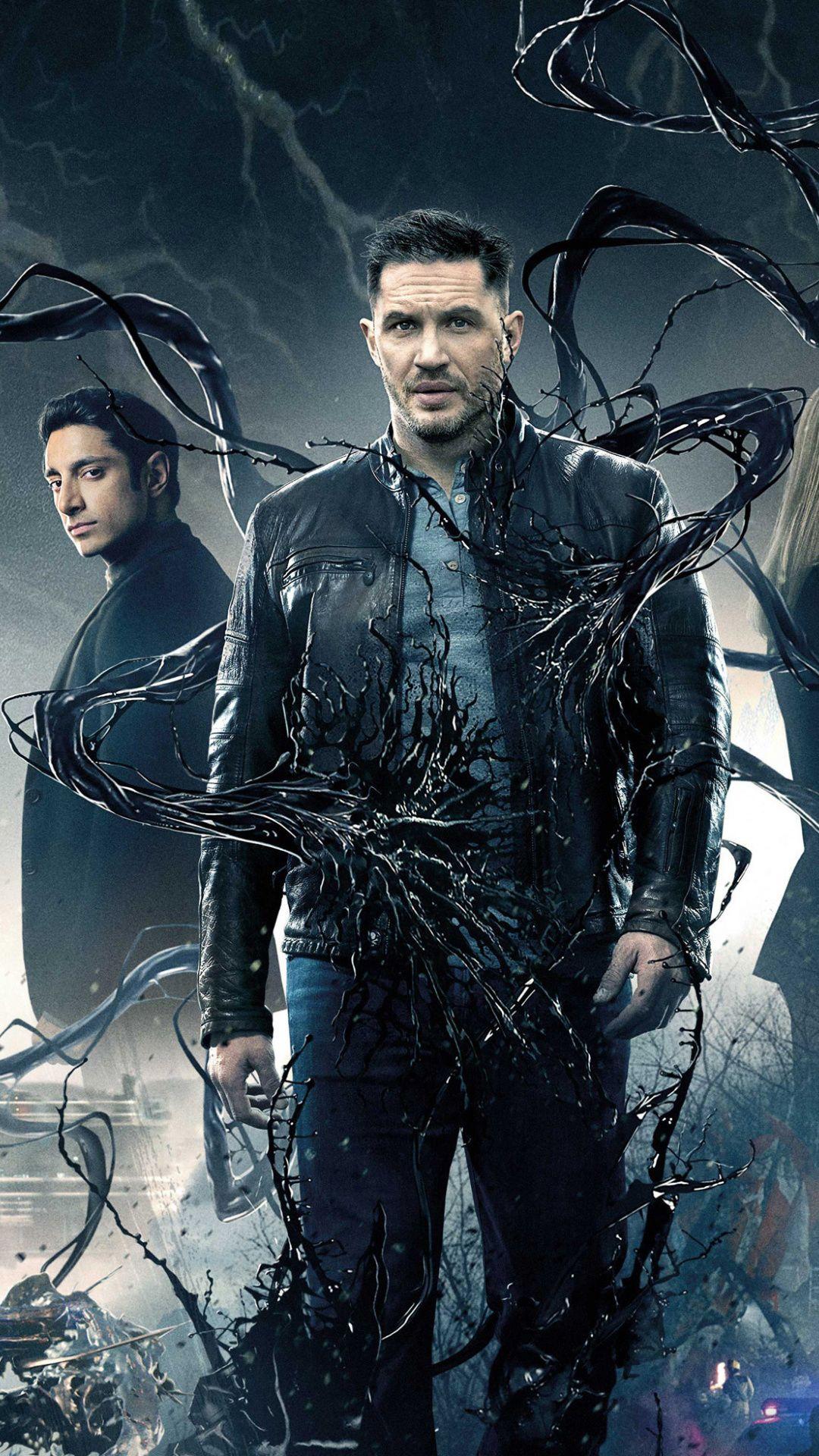 Venom Movie Lead Cast 2018 Movie Official Poster 1080x1920 Wallpaper Venom Movie Venom Film Venom
