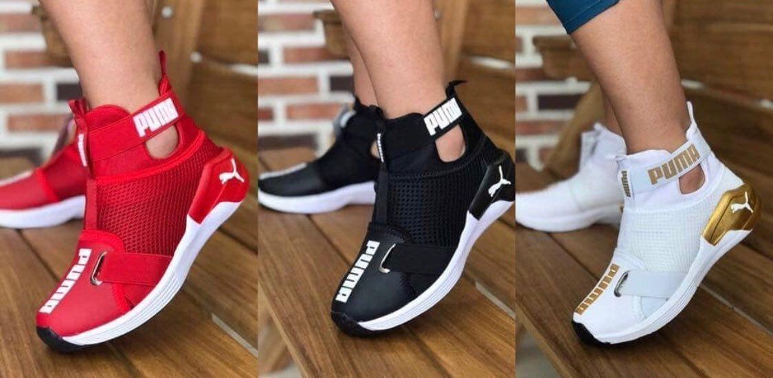 Custom Puma Fierce Strap Casual Shoe Set | Nike shoes blue, White ...