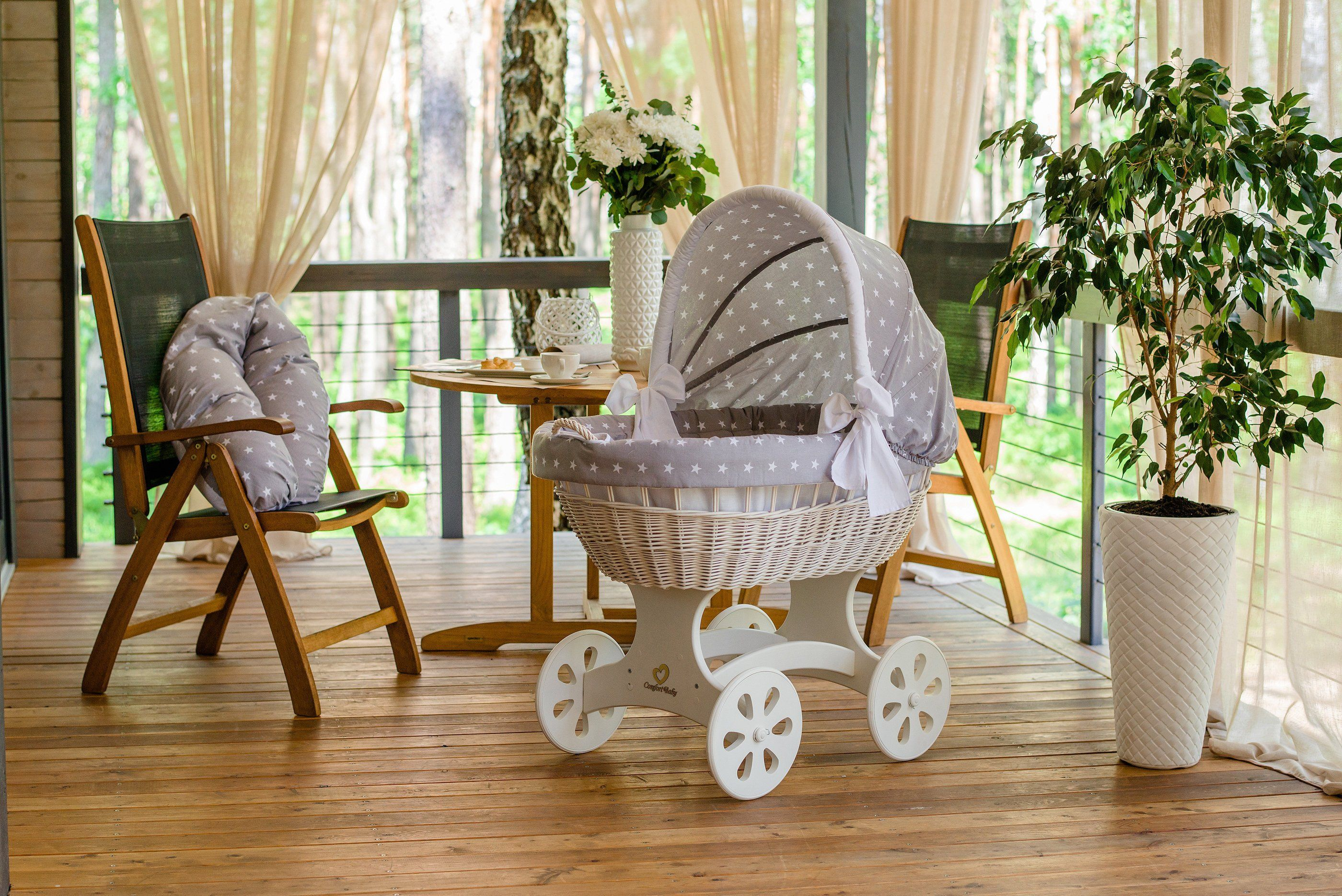 Baby stubenwagen design tradition trifft design der alvi