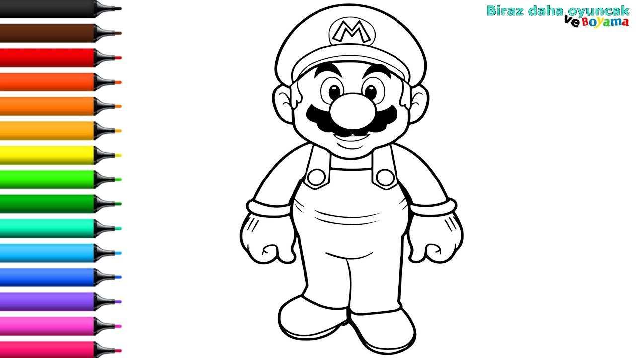 Super Mario Boyama Cocuklar Icin Boyama Videolari Boyama Oyunlari 2020 Boyama Kitaplari Mario Videolar