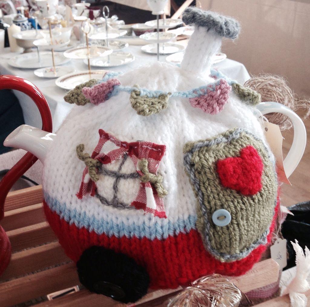 Rosylea Vintage Home....hand knitted caravan tea cosy www.facebook ...
