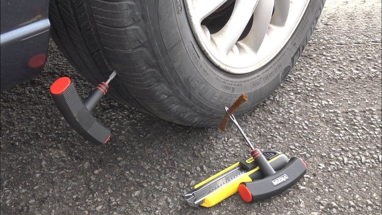 Diy how to fix a rear flat tire easy youtube fixitsamo
