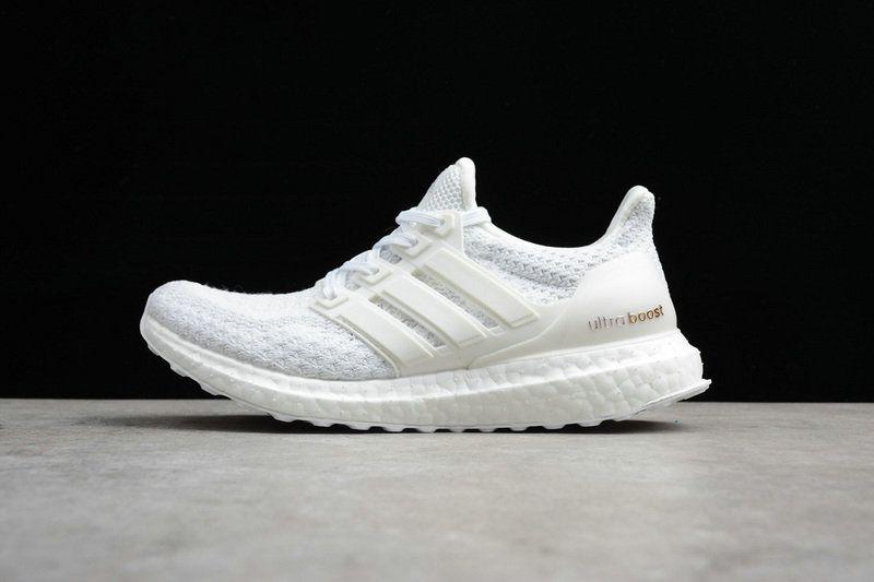 d6bb64e627db5 Authentic Unisex Adidas Ultra Boost Triple White blanc AQ5929 Youth Big  Boys Sneakers