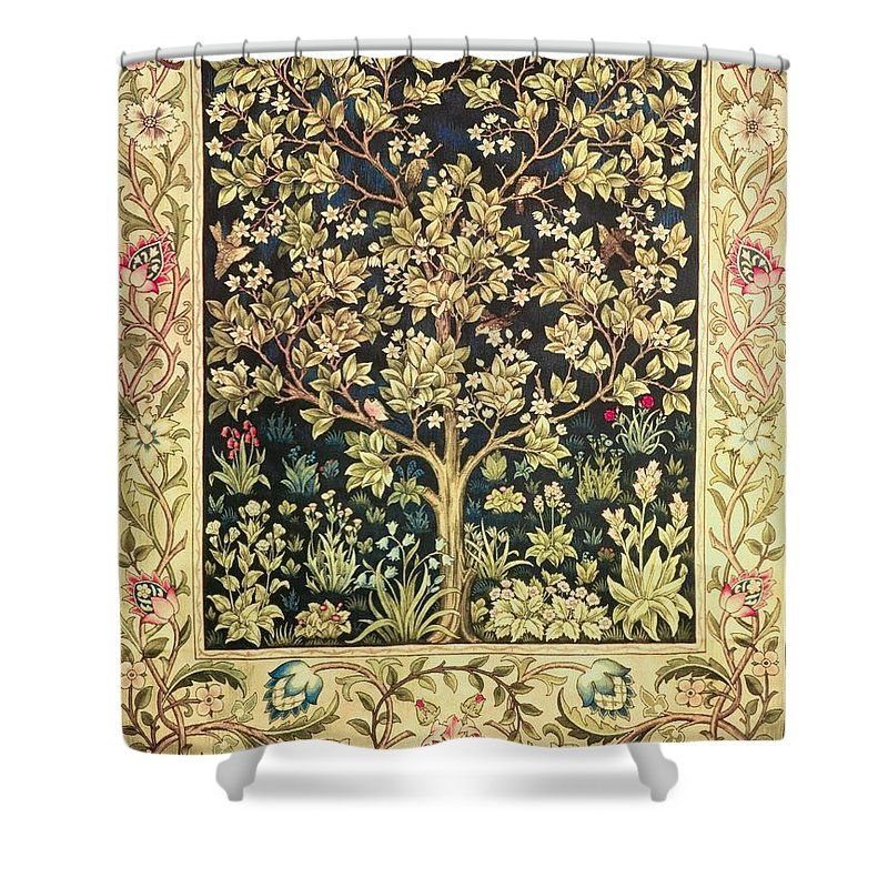 Tree Of Life Shower Curtain For Sale By William Morris Craftsman