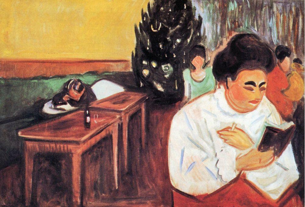 """La prostitución en el arte de Picasso, Van Gogh o Munch. """" La Navidad en el l burdel"""" d Munch"""