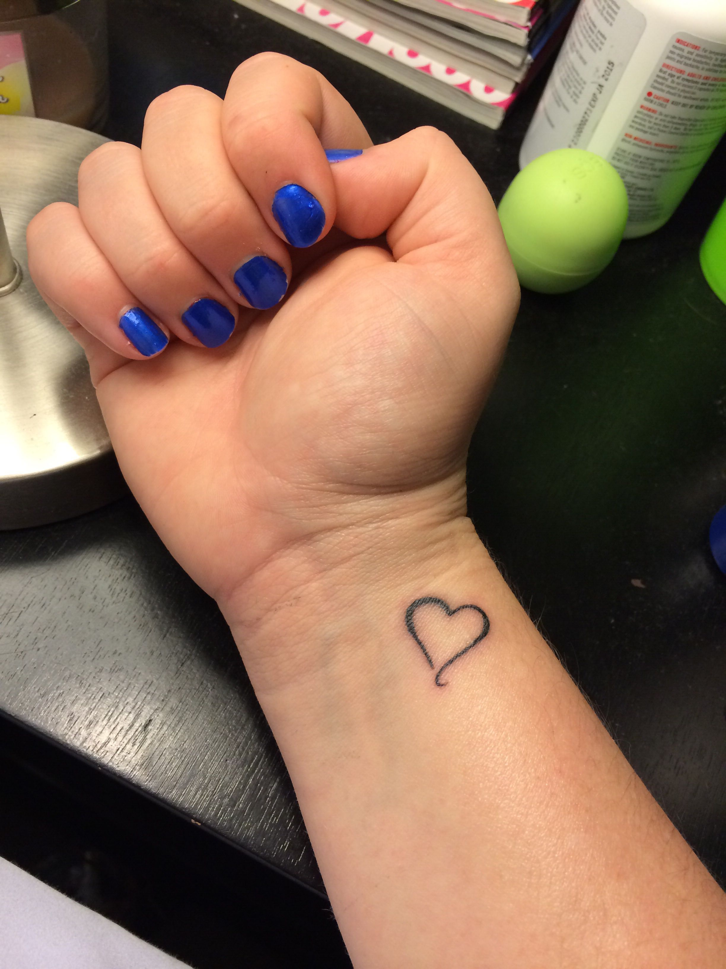 Pin By Vicki Gutman On Tattoos Small Heart Wrist Tattoo Wrist Tattoos For Guys Small Wrist Tattoos