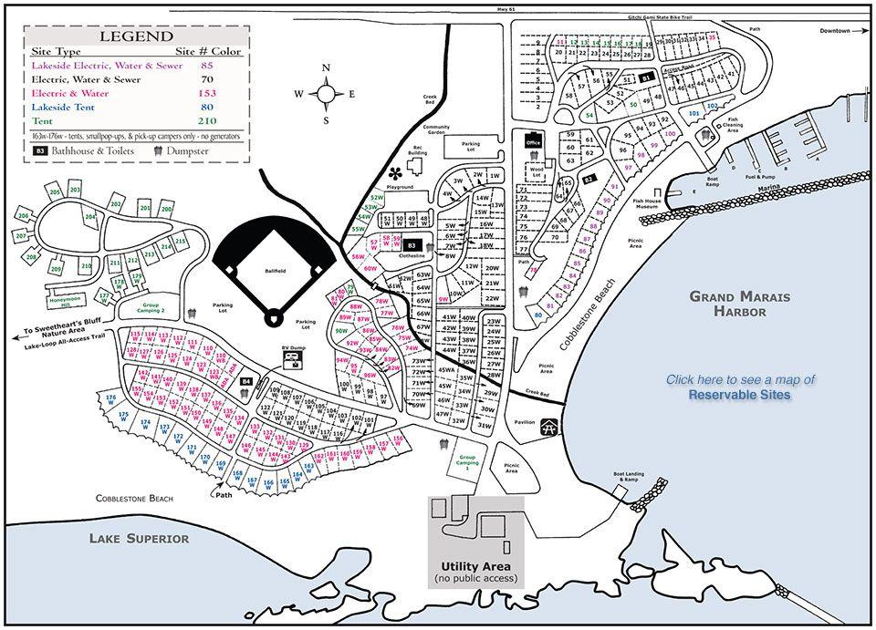 Maps Of The Grand Marais Mn Campground Grand Marais Grand Marais Minnesota Campground