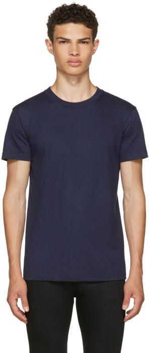 Navy Ring Spun T-Shirt Naked & Famous Denim Outlet Amazing Price Sale How Much ogRgZ4mV