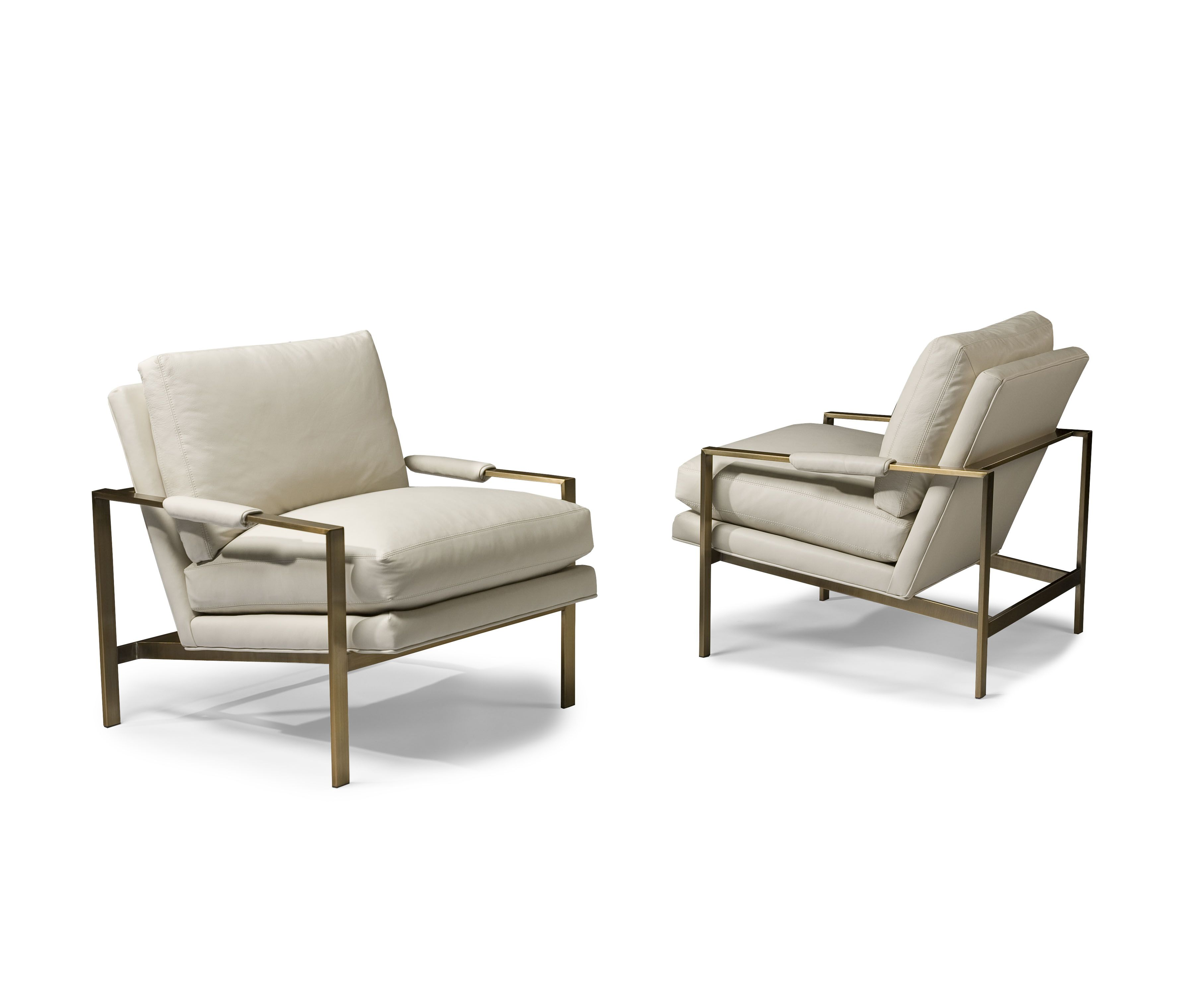 Design Classic Lounge Chair By Milo Baughman In New Brushed Bronze Finish