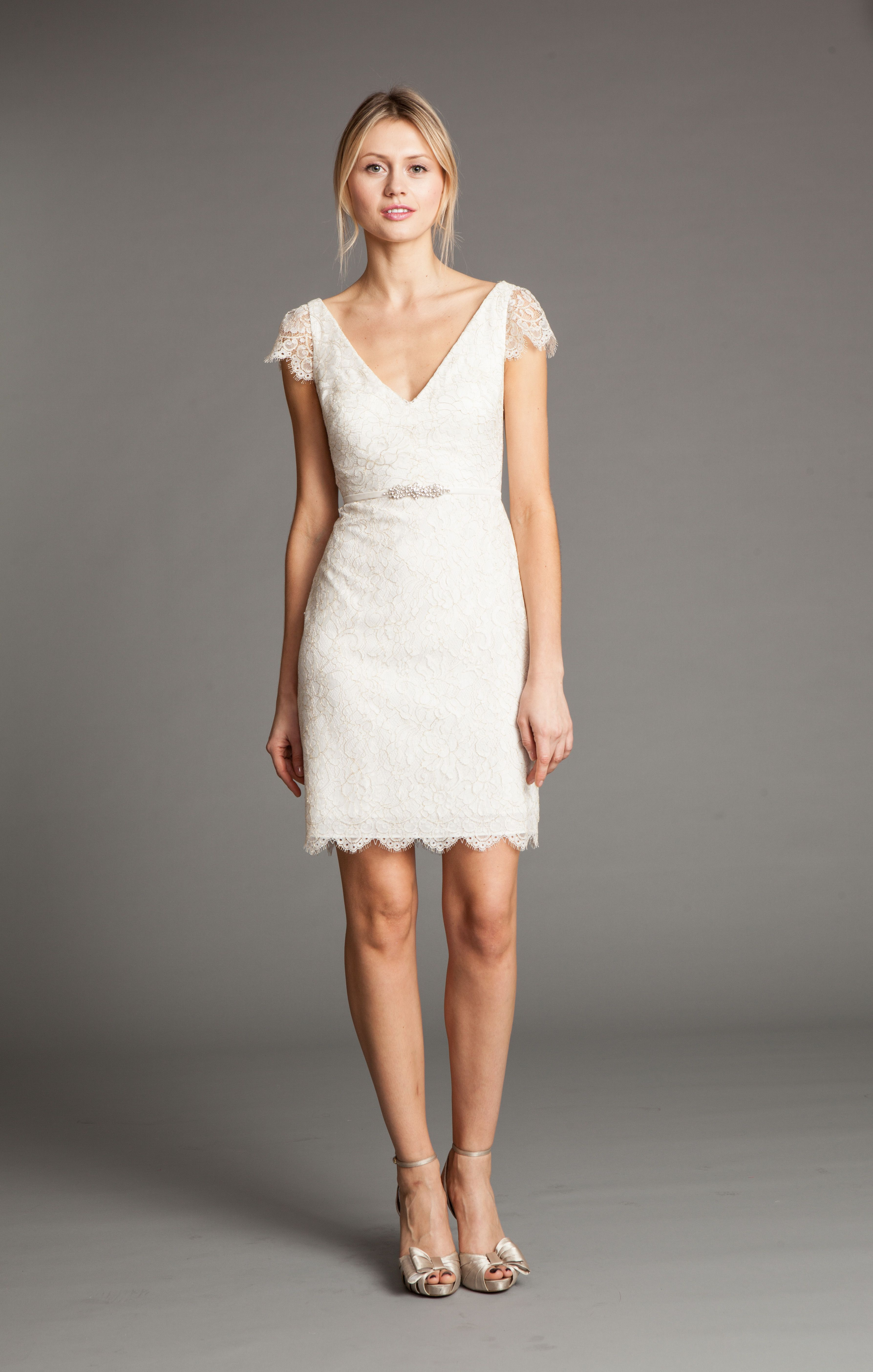 Bridgitte by Jenny Yoo-perfect for Rehearsal Dinner or Bridal Shower $320 http://www.jennyyoo.com/lace04.html