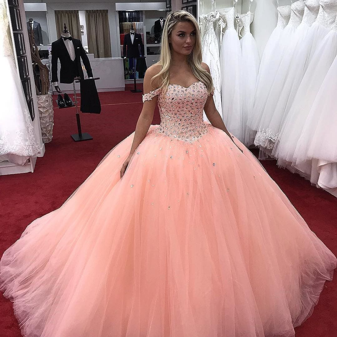 Beautyrobes pink long prom dresses ball gown