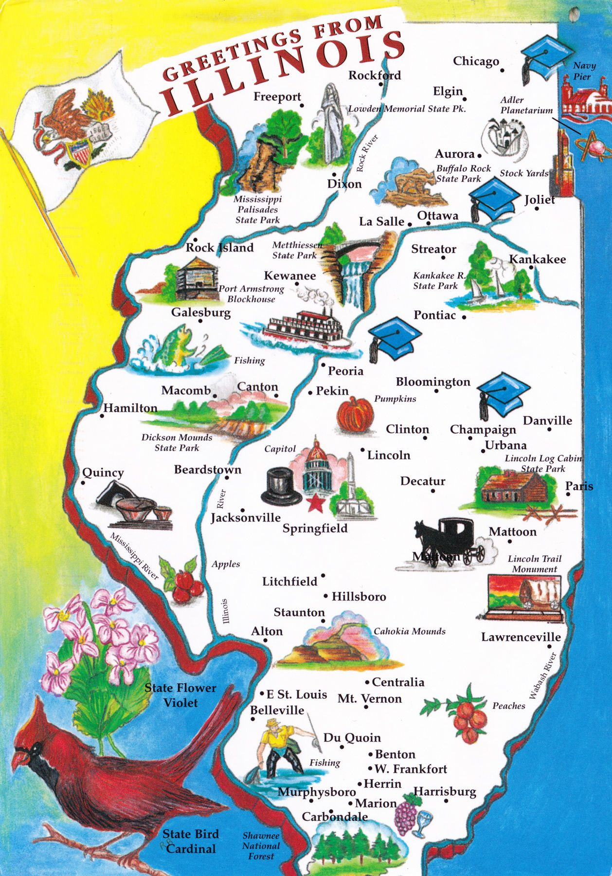 Illinois Been There Done That Pinterest Chicago Rockford - Illinois state map with towns