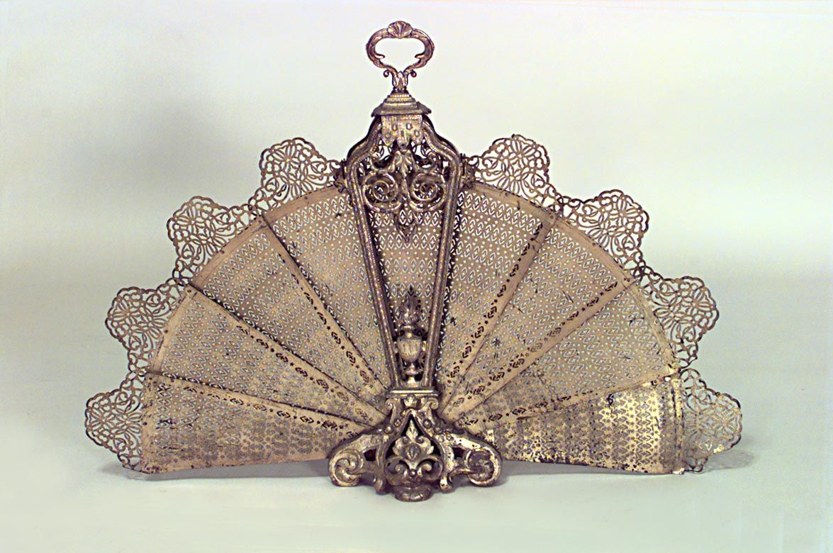 victorian fireplace screens victorian brass filigree folding rh pinterest ch