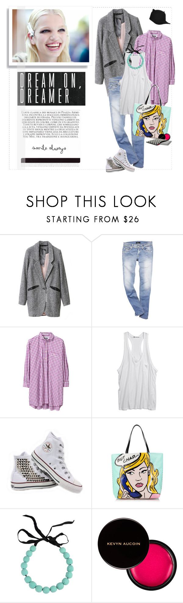 """""""Dream on, dreamer!"""" by blackpearls ❤ liked on Polyvore featuring Daphne, Iliann Loeb, Alexander Wang, Converse, Kate Spade, Marni, Kevyn Aucoin and Givenchy"""