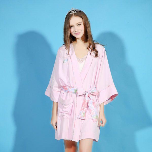 Femme Peignoir Stylée 2018 En Rose Et Pour Robe Glamour 4rEXwr