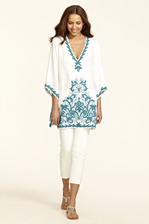 Florita Embroidered Tunic. The hand embroidered pattern is to die for.