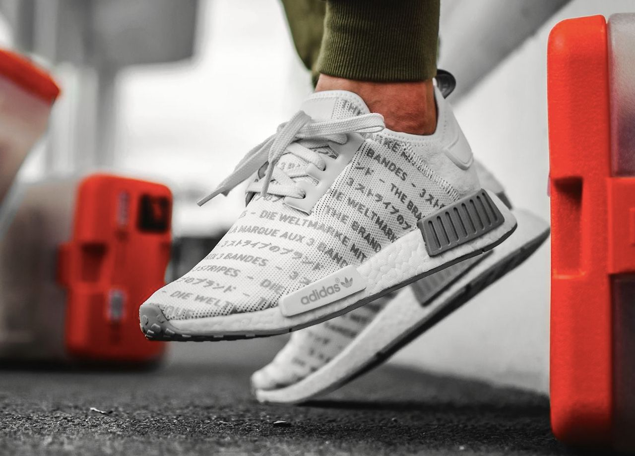 Shoes style · Adidas NMD R1 Three Stripes White (by Seth Hematch)