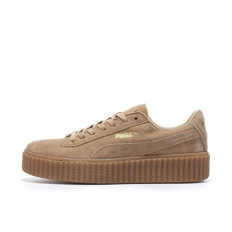 newest b554b fe243 Puma Rihanna Creeper Retro Nubuck Shoes All Brown | Puma ...
