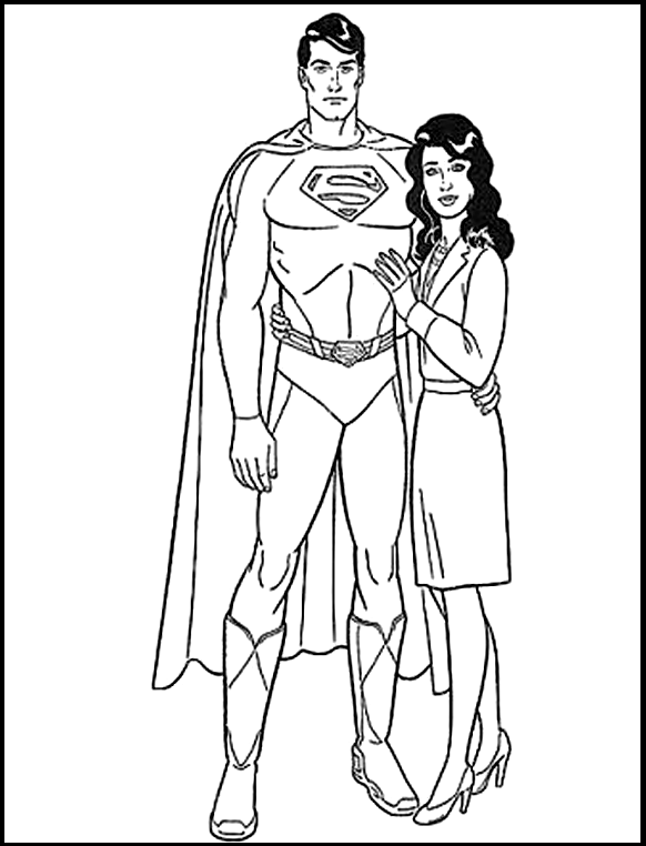 Superman Together Wife Coloring Pages For Kids Gbi Printable Superman Coloring Pages For Kids