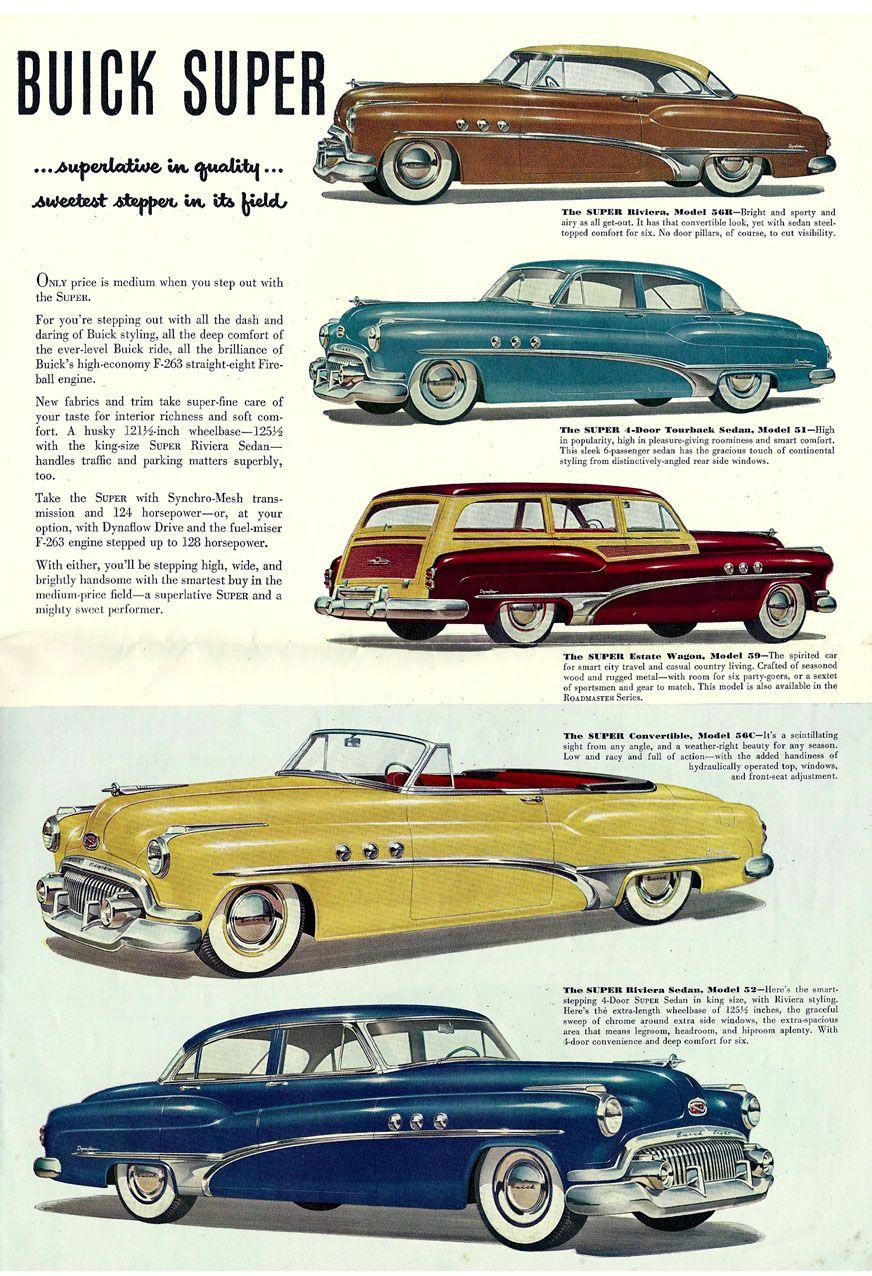 1951 Buick Brochure 04 Cars Of 50 S Pinterest Brochures