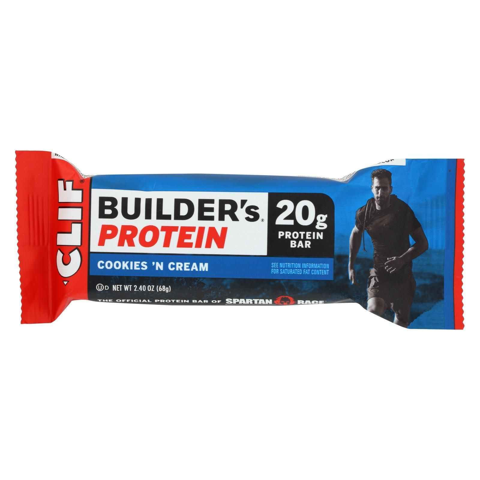Clif Bar Builder Bar - Cookies And Cream - Case Of 12 - 2.4 Oz  #health #organic #nutrition #fitness...