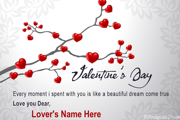 Write Name On Happy Valentine S Day Wishes Card Happy Valentines Day Card Happy Valentines Day Wishes Valentine S Day Greeting Cards