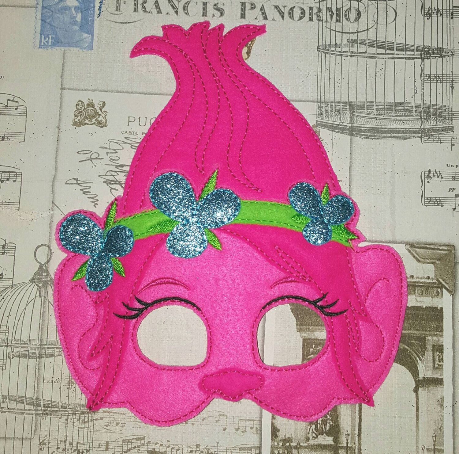 Poppy trolls inspired mask ITH Project In the Hoop Embroidery ...