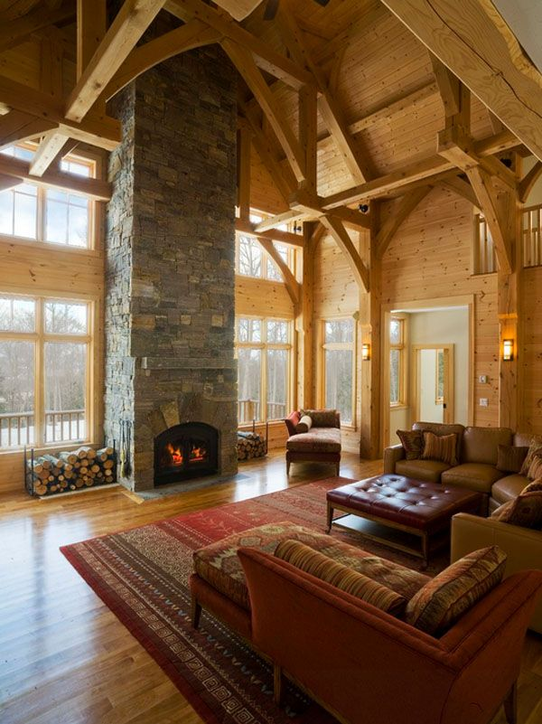 exciting log cabin cozy living rooms | 47 Extremely cozy and rustic cabin style living rooms ...