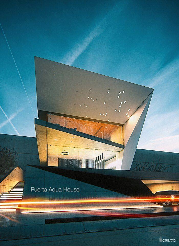 Modern Architecture Render puerta aqua house (guadalajara, méxico) |creato arquitectos