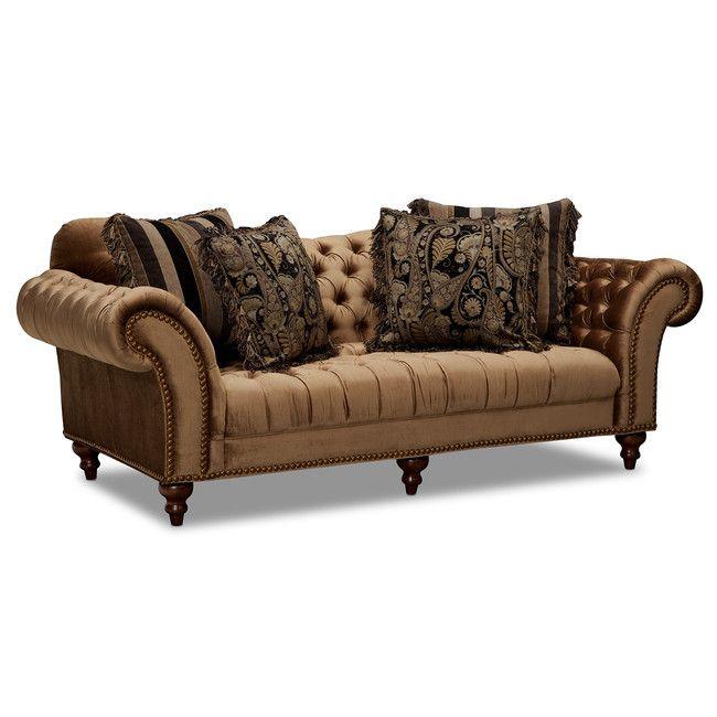 Best Living Room Furniture Brittney Sofa Bronze Bronze 640 x 480