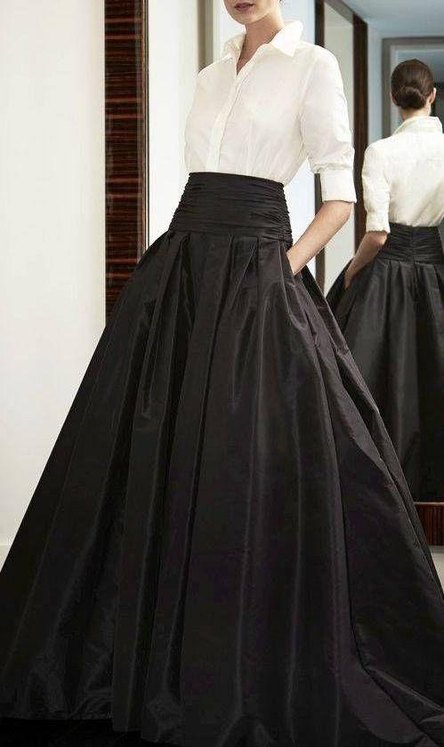 Photo of Hanna taffeta skirt