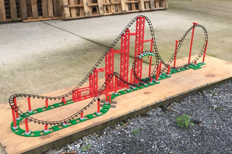 Sidewinder LEGO Compatible Looping Roller Coaster | Roller ...