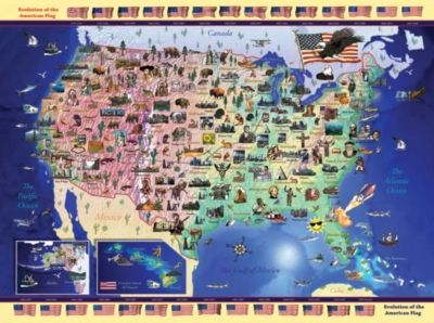USA Map Pc Jigsaw Puzzle By Ravensburger - Us map jigsaw puzzle