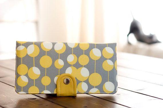 Handmade Wallet - BiFold Wallet Clutch - Vegan Wallet / Modern Lantern in Mustard -- PREORDER on Etsy, $65.54 AUD