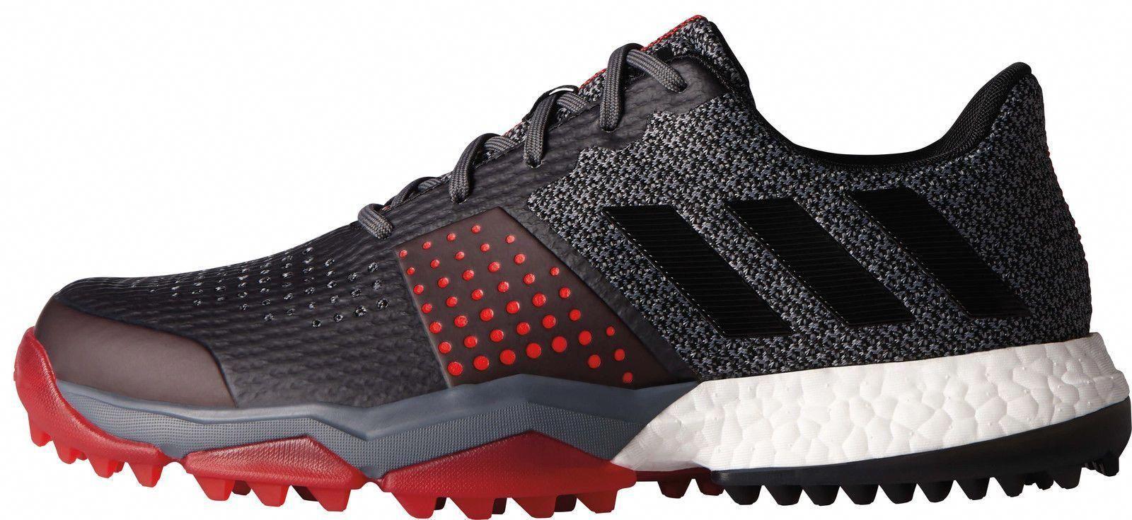 Adidas Adipower S Boost 3 Golf Shoes Q44778 Onix//Black/Scarlet ...