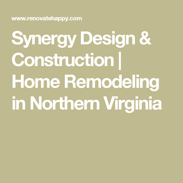 Synergy Design & Construction  Home Remodeling In Northern Glamorous Virginia Bathroom Remodeling Design Inspiration