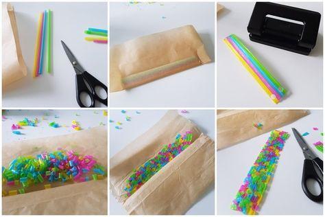 Basteln mit Strohhalmen 4 kreative Ideen für Kinder + Freebie