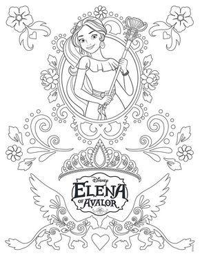Elena De Avalor Dibujos Colorear Dibujalandia Desenhos Para
