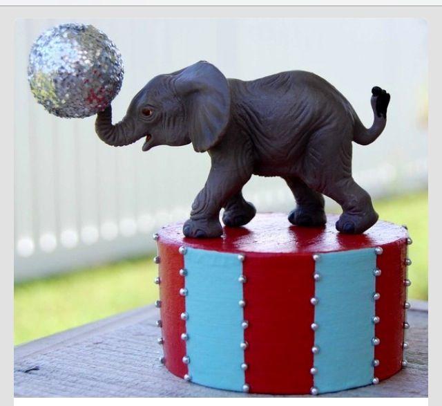 einfache diy zirkus  karnevalsdekorationsidee elefant