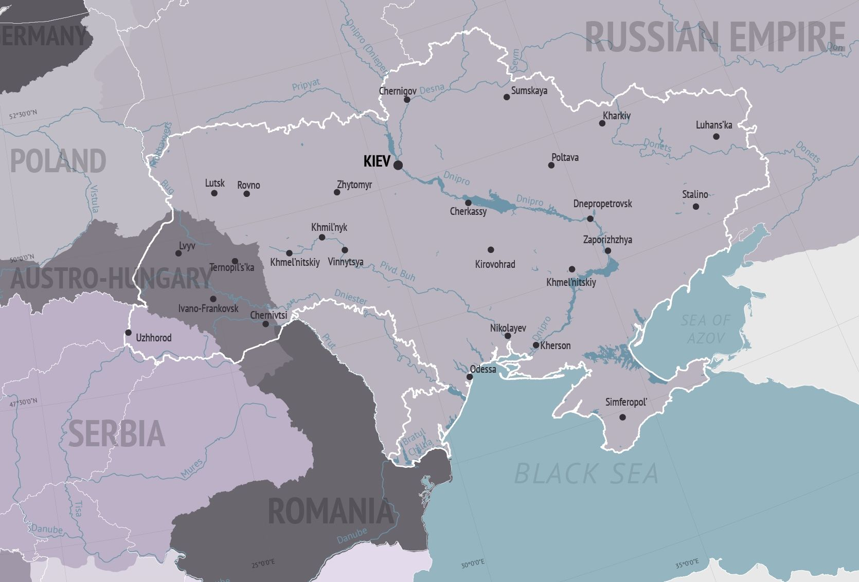 ukraine map 1900 Ukraine Map Story my family tree Pinterest