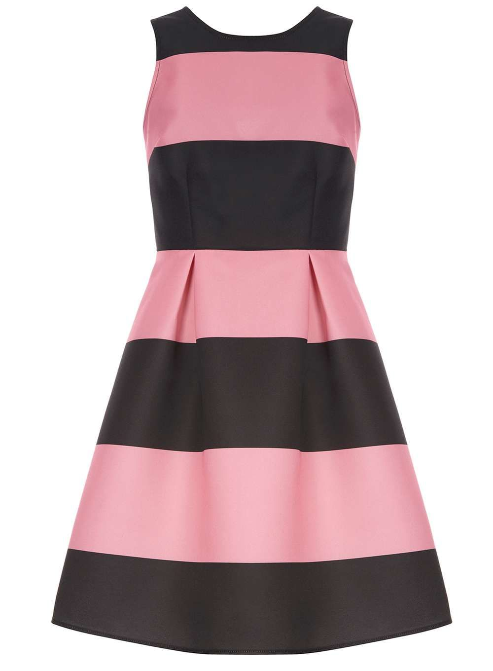 Luxe Pink and black prom dress