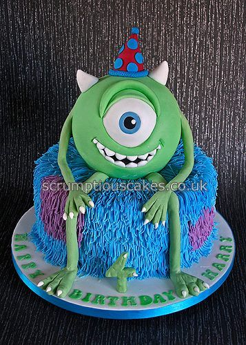 Monsters Inc Cake Cakes Pinterest Birthday cakes Pj and Monsters