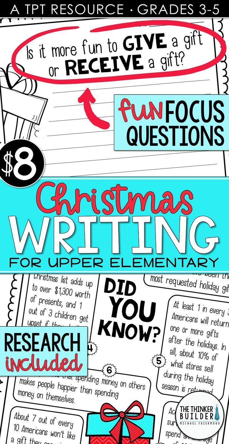 Christmas Writing Opinion Writing Lessons & Activities