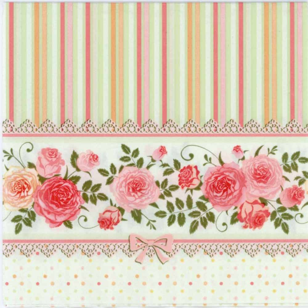4 x Single Vintage Table Paper Napkins for Decoupage Lunch Decopatch Flowers 45