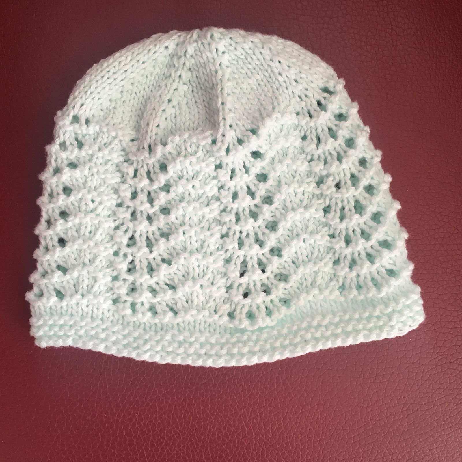 703a6b826fa0 Ravelry  Old Shale Lace Baby Hat by marianna mel