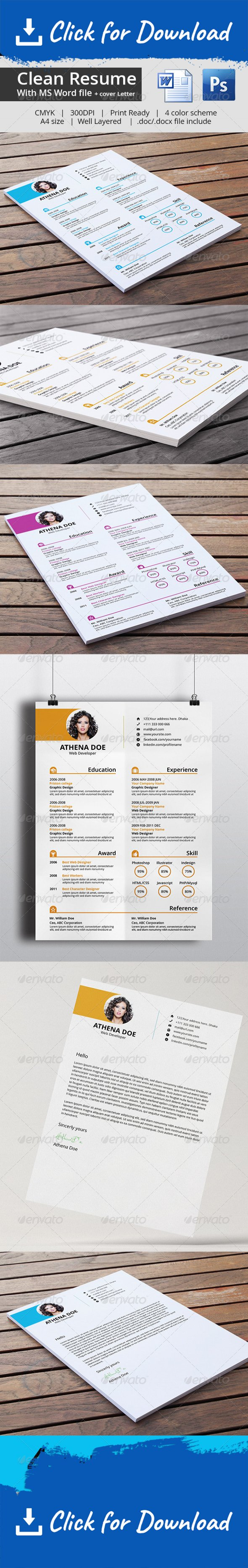 Clean Resume Cover Letter With Ms Word Resume Cover Letters